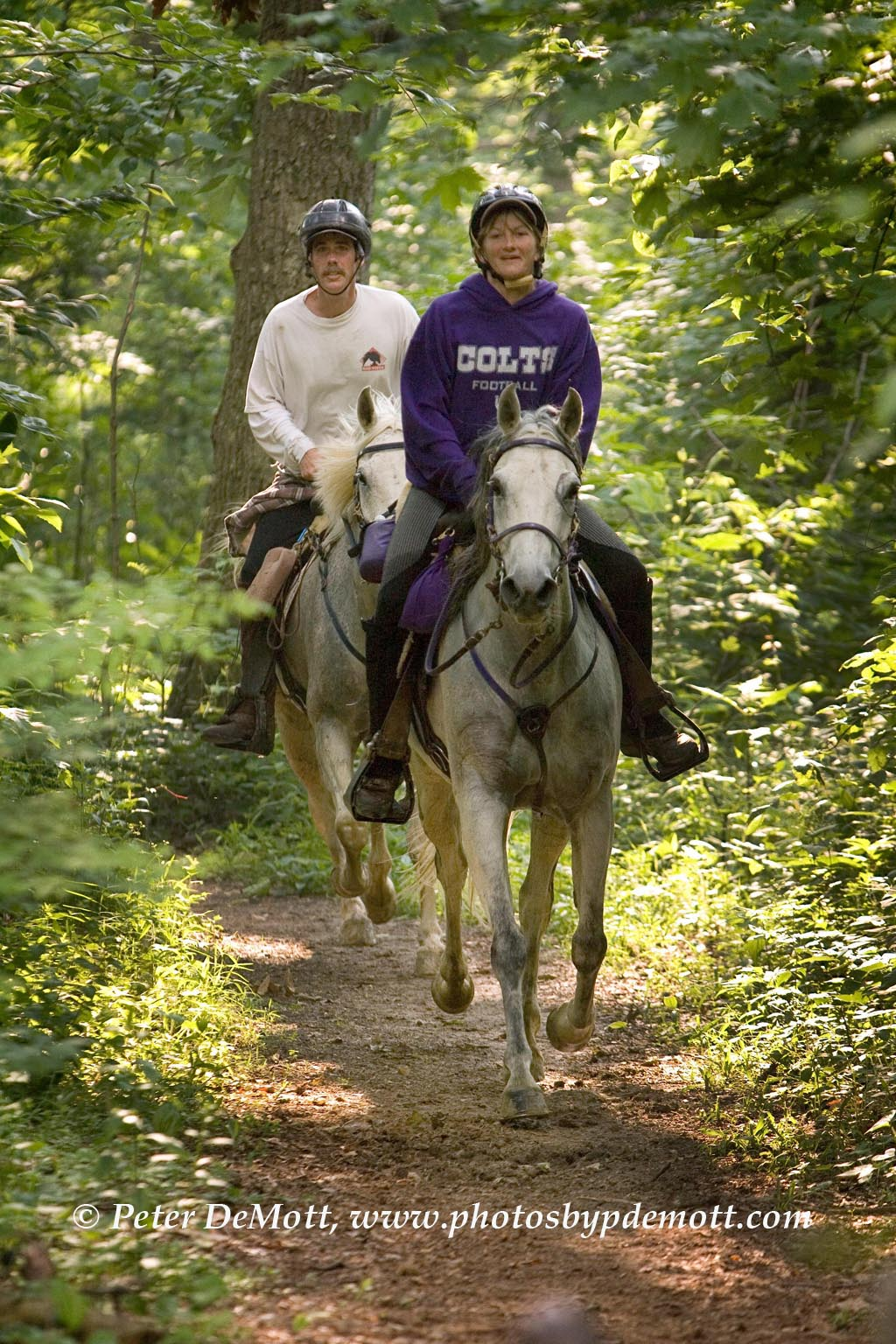 chicken chase endurance ride in clark state forest in
