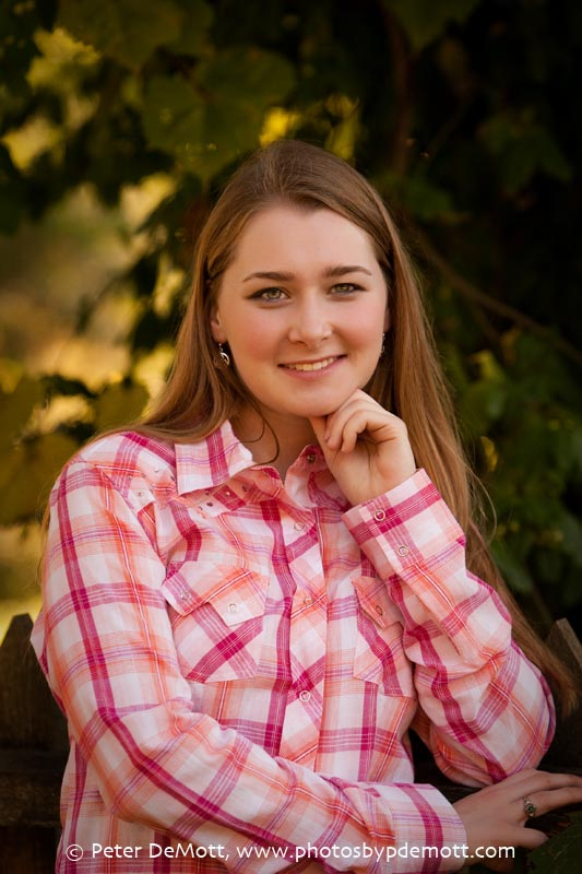 Dana's senior portraits at Carriage Hill Farm