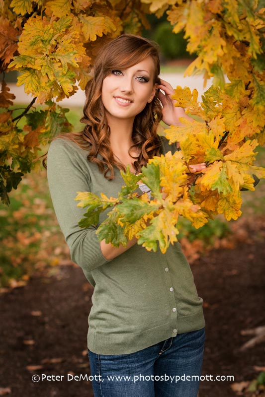 Alicia G Fall senior portrait