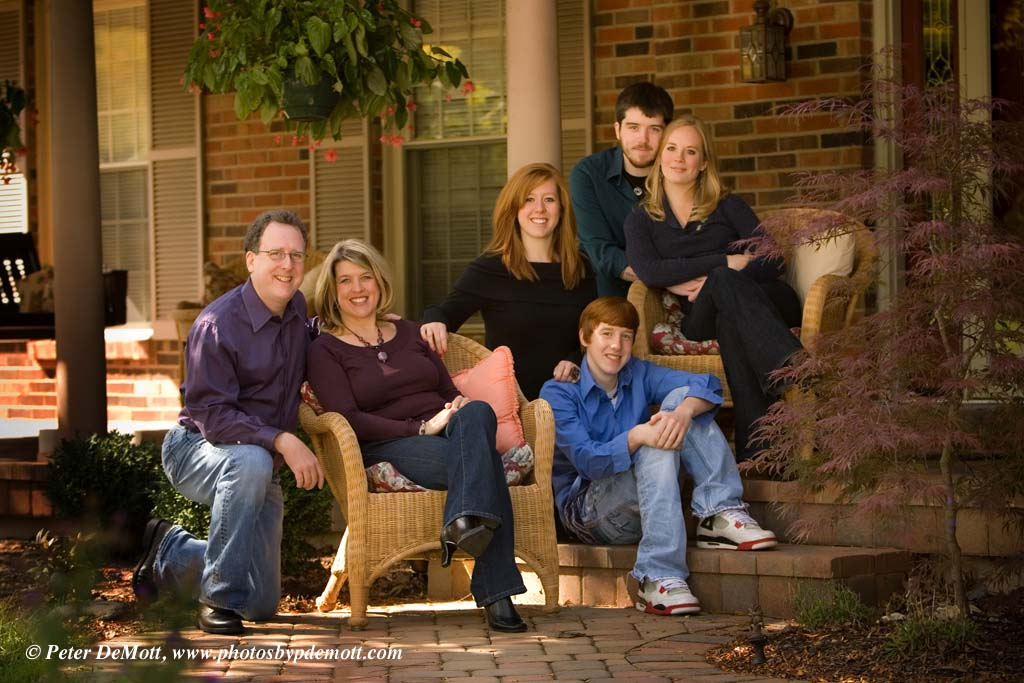 On Location family group portraits at your home or other location