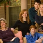 Jen and Ken Damon's Family Portrait Session at their home in Miamisburg