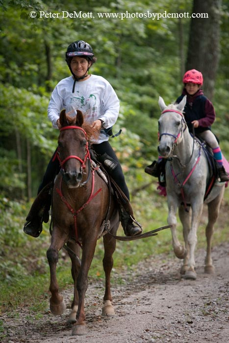 Amy Whalen brings along another daughter in Endurance riding