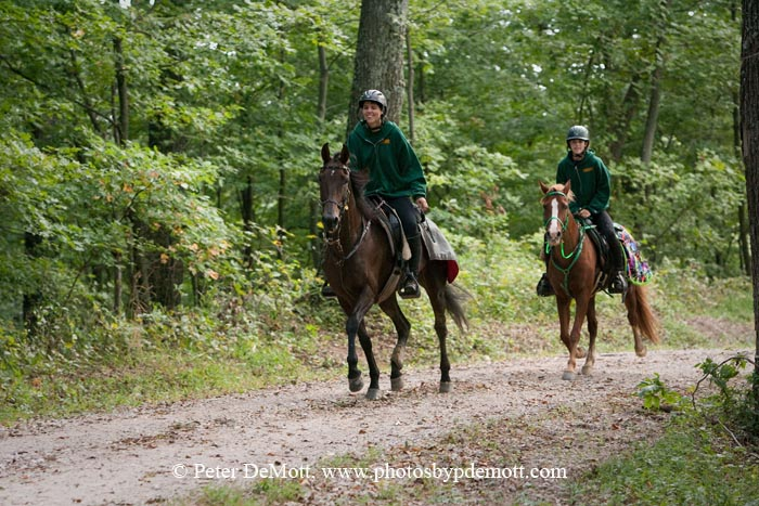 Shanon Loomis brings along her daughter in endurance riding